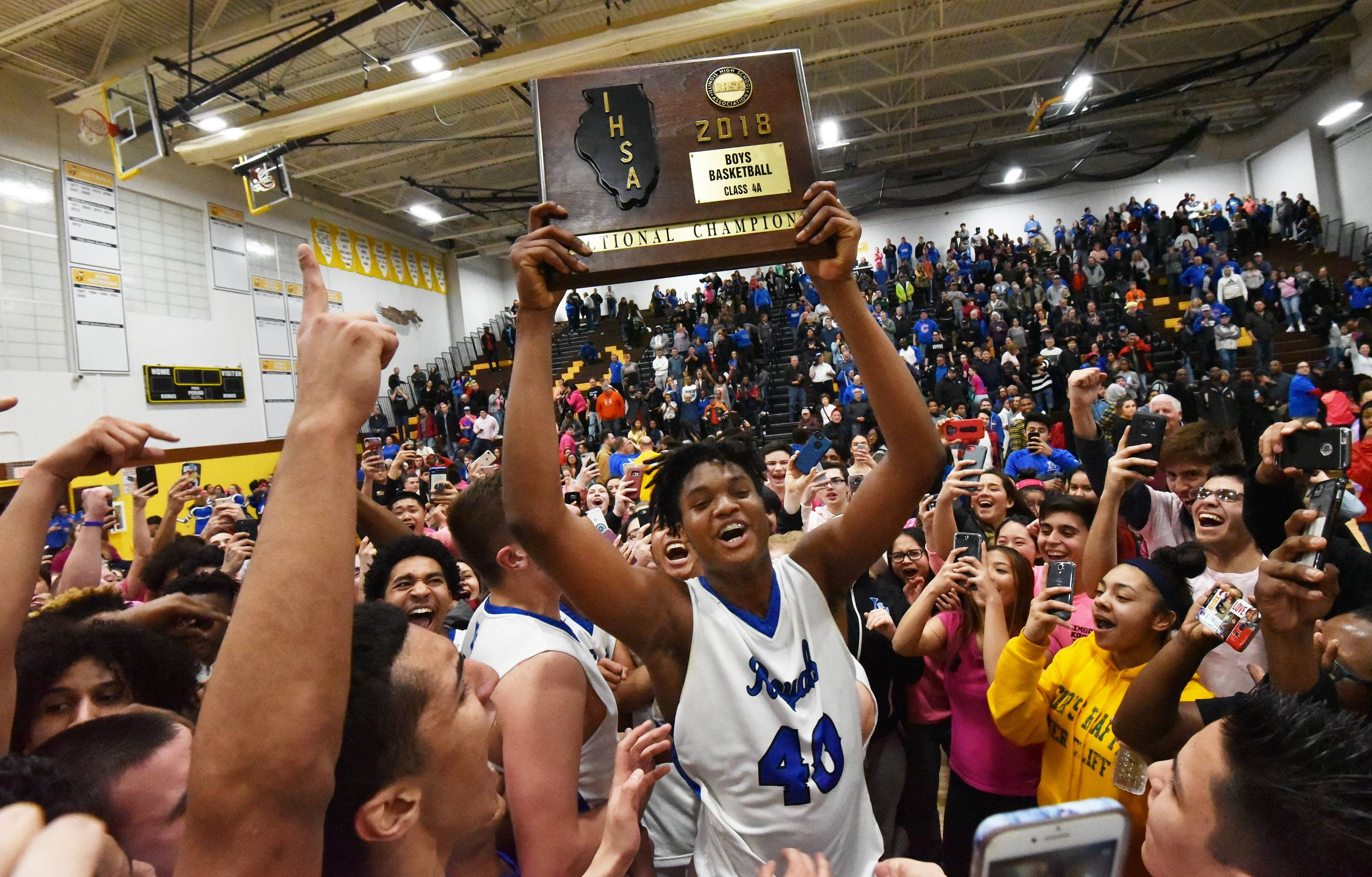 Images: Larkin over Rockford Jefferson, 60-55 in Class 4A sectional final boys basketball