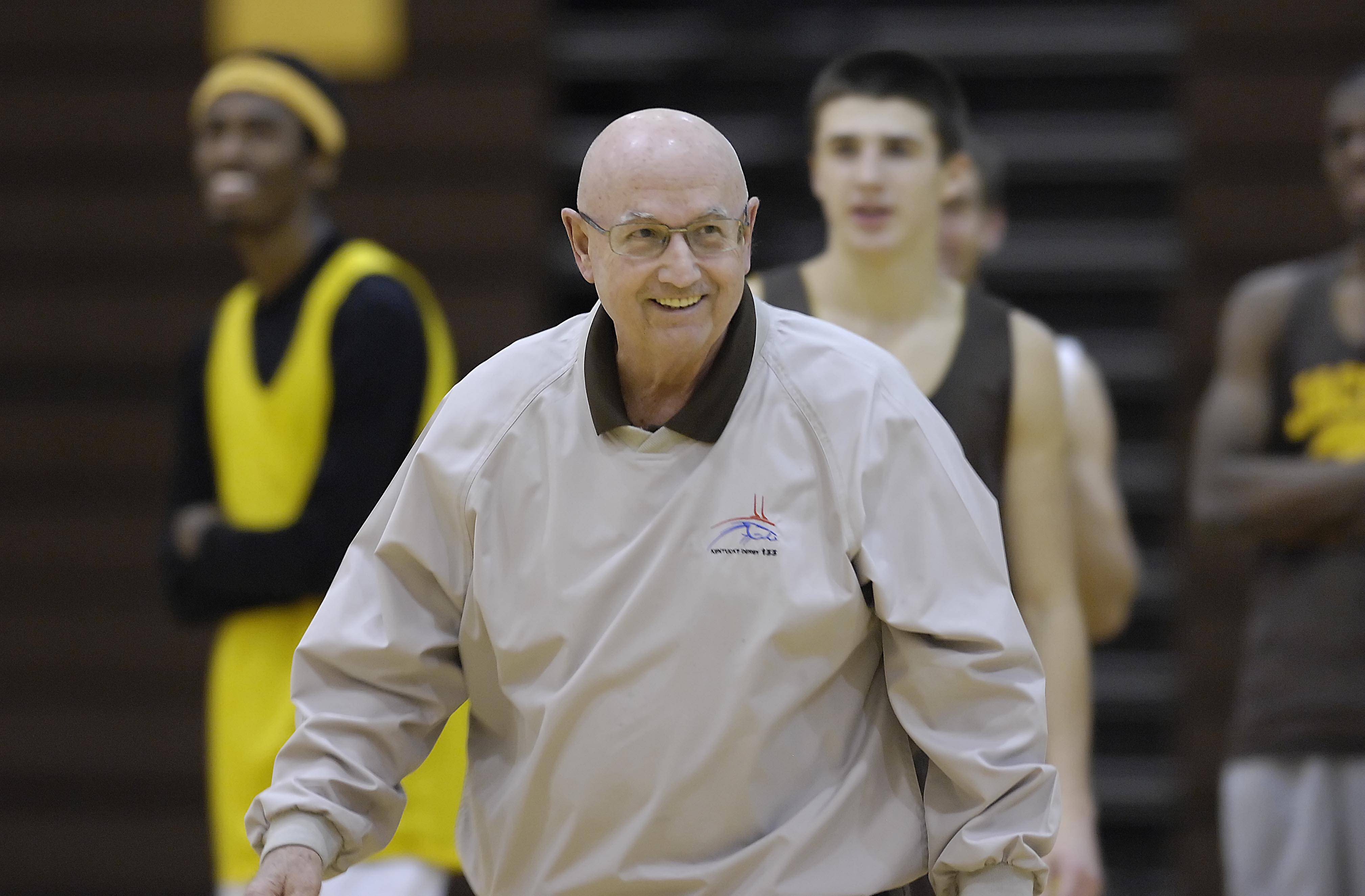 Retired Jacobs boys basketball coach Jim Hinkle will take to the bench again on May 12 when he coaches the Jacobs boys almuni team in a benefit game to be played at Dundee-Crown.
