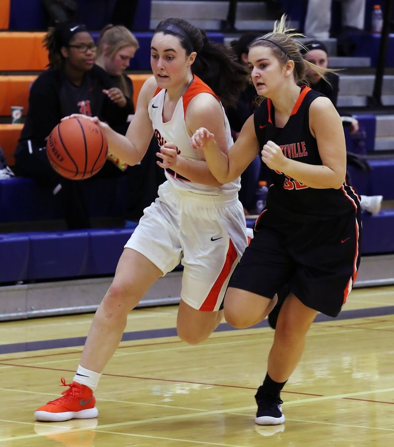Buffalo Grove forward Kendra Lee, left, is one of the top returuning players in the MSL East this season.
