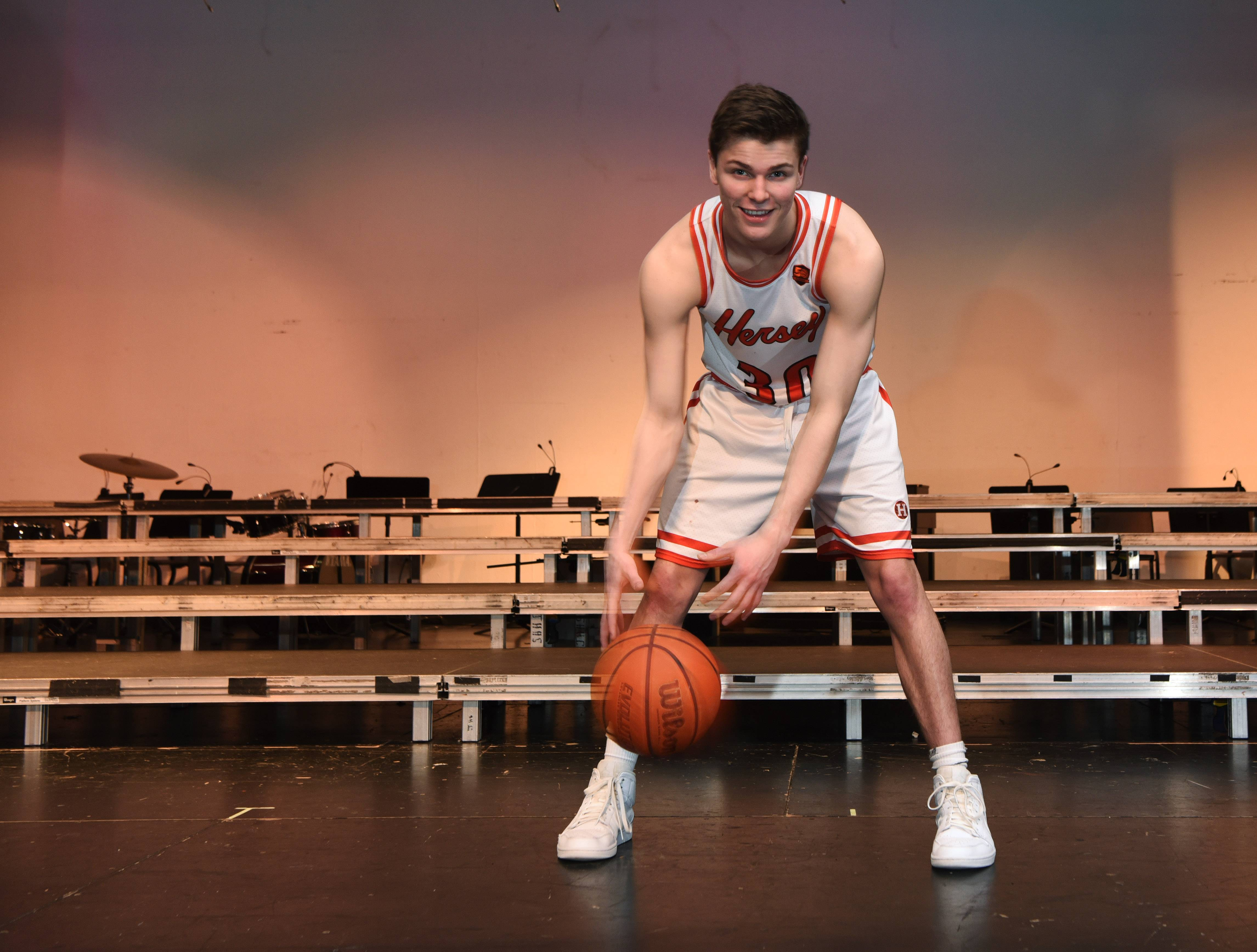 "Hersey basketball player Jason Schmidt was the lead in the school's Fall musical, and has been in many other theater productions as well. He is a talented actor, singer and dancer. ""One of the most individually talented people I've ever seen,"" said head coach Austin Scott."