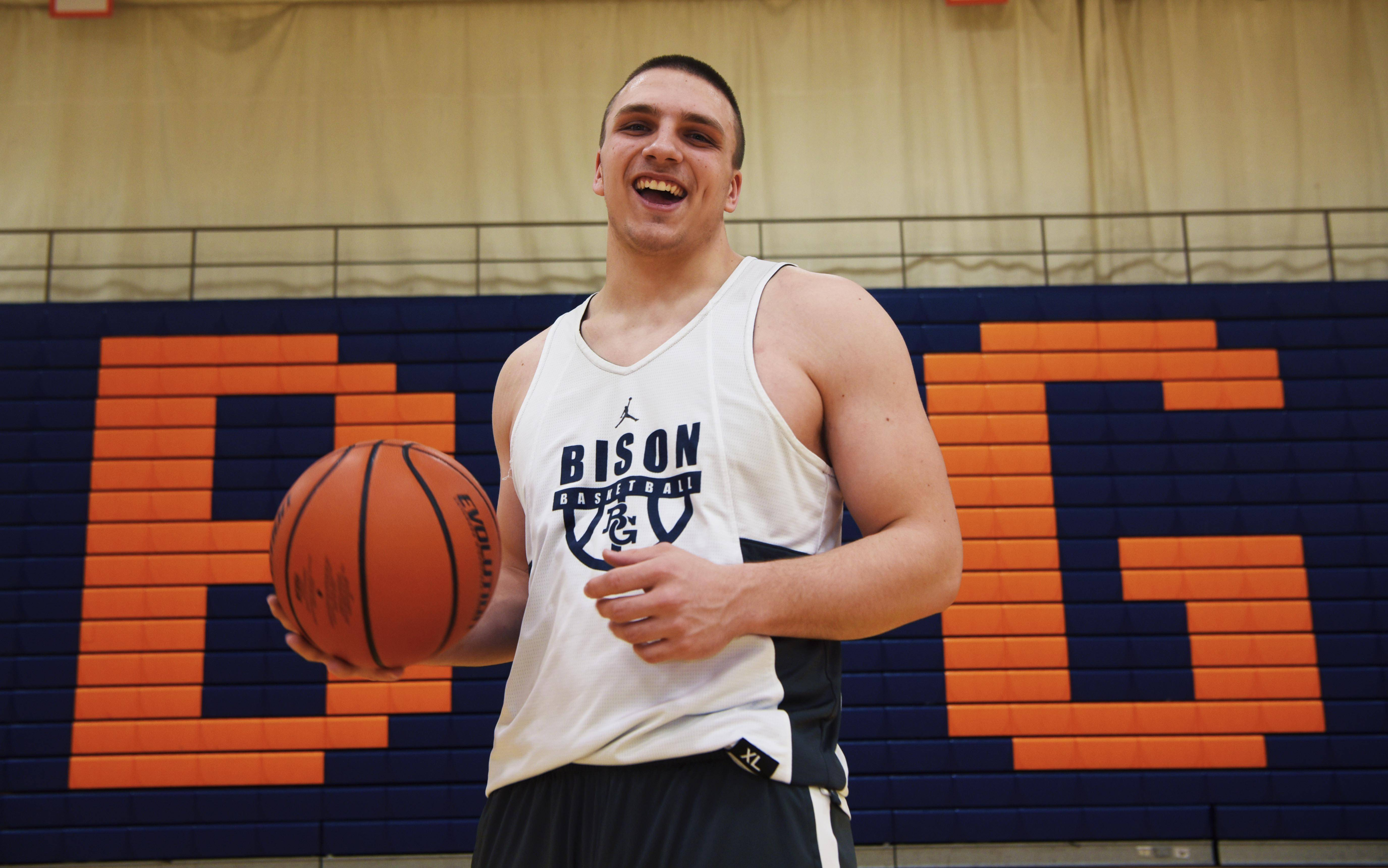 Buffalo Grove boys basketball player Tom Trieb has overcome a football injury to become a mainstay for the Bison on the court this winter.