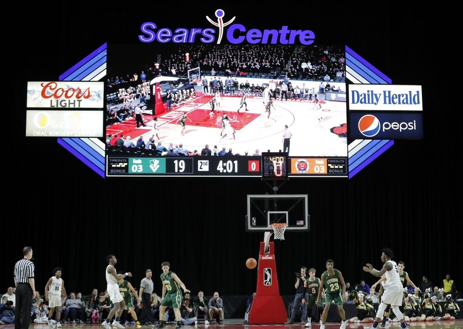 Stevenson took on Evanston in the Class 4A boys basketball supersectional Tuesday night at the Sears Centre in Hoffman Estates.