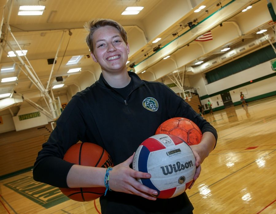 Rachel Kandefer of Elk Grove played three sports. She is the Daily Herald Northwest Suburbs' Female Athlete of the Year and will play volleyball at Harper College.