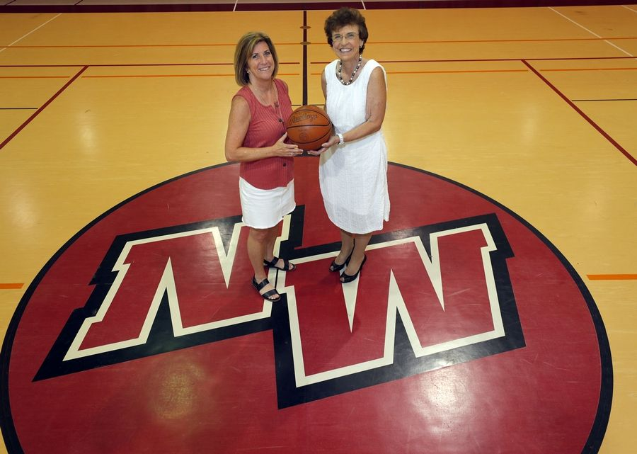 They both went on to great careers, but sports journalist Melissa Isaacson, left, and former Arlington Heights Mayor Arlene Mulder built something special when Mulder was the girls head basketball coach at Niles West High School.