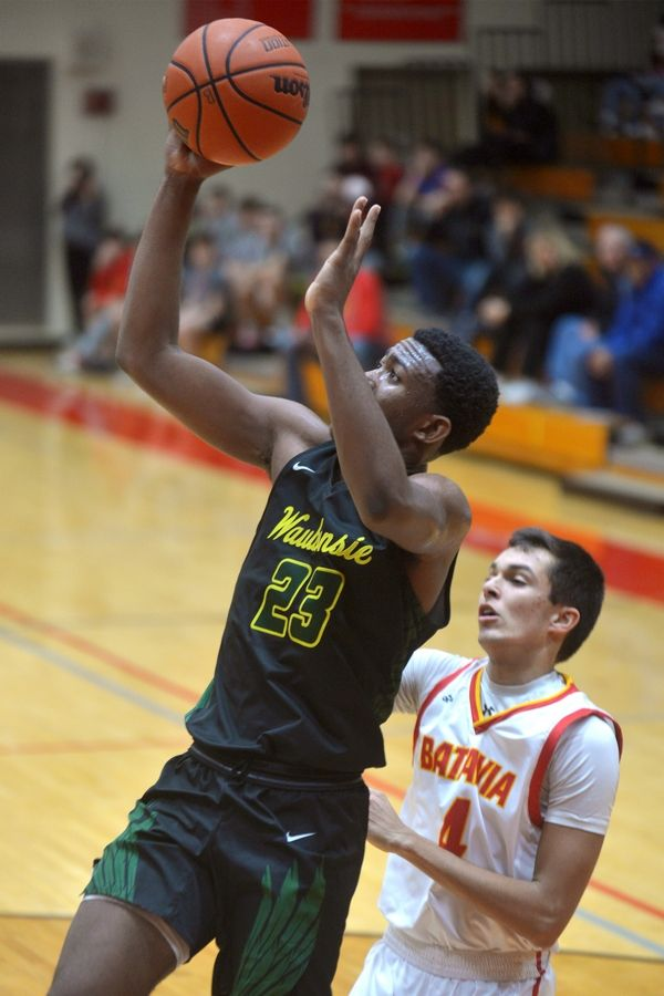 Waubonsie Valley's Marcus Skeete scores on a baseline drive against Batavia in the Ken Peddy Windmill City Classic Saturday Nov. 30 in Batavia.