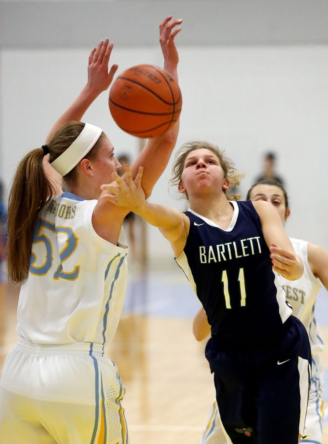 Only a junior, Bartlett's Lexie Sinclair already has reached 1,000 points for the Hawks.