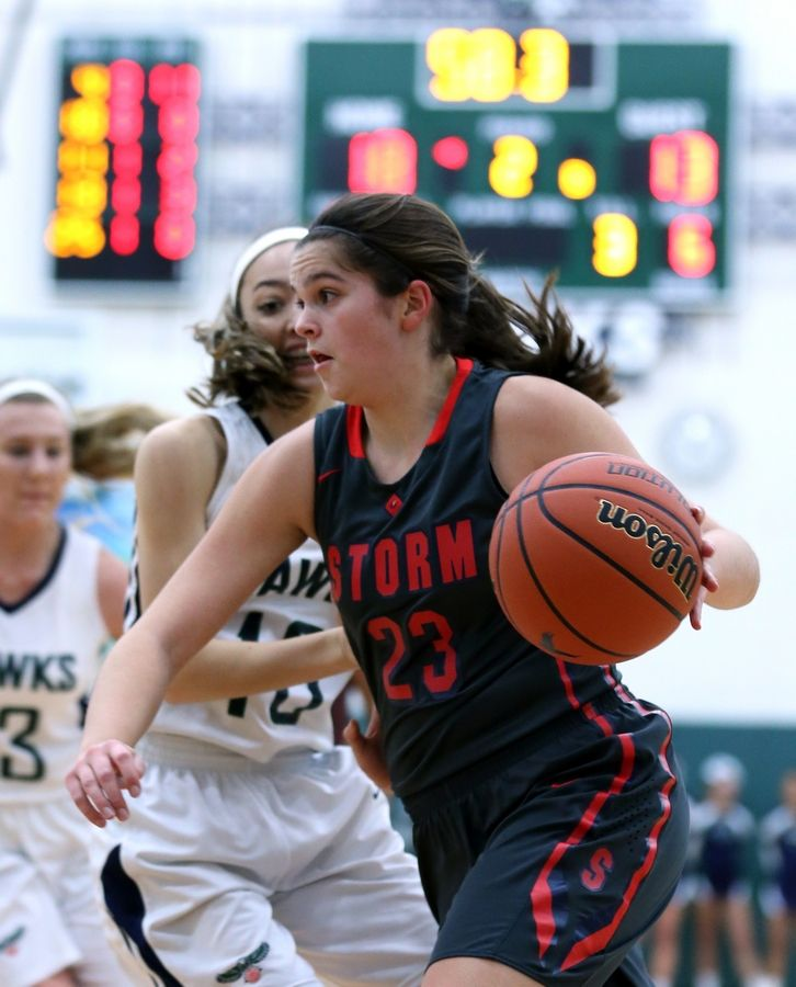 South Elgin's Megan McClure scored her 1,00th point Friday.