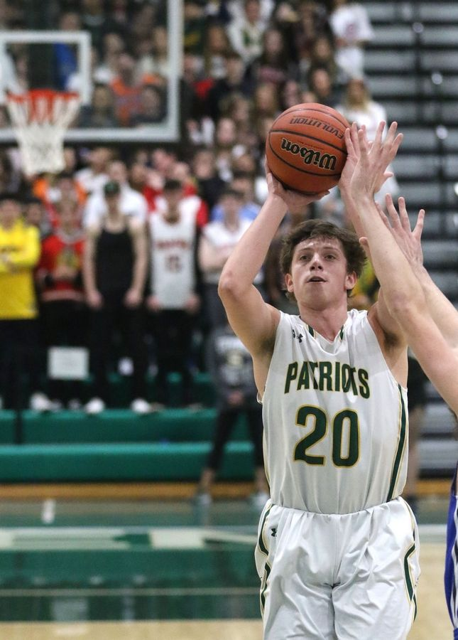 Stevenson's Jacob Tenner takes a shot against Highland Park in Class 4A Stevenson regional final boys basketball action Friday night.