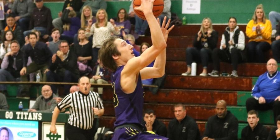 Wauconda's Griffin Daun makes easy layup against St. Francis in Class 3A Rockford Boylan boys basketball sectional semifinal action Tuesday night.