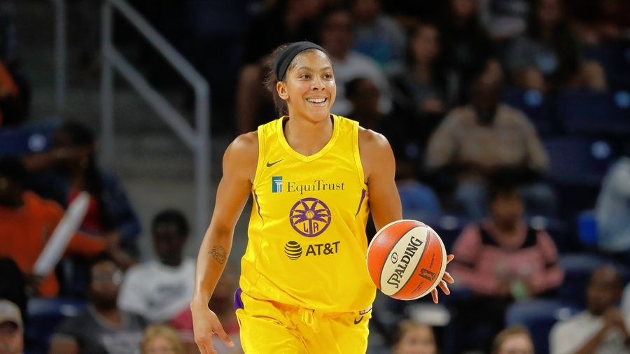 The Los Angeles Sparks' Candace Parker, here playing against the Sky last year in Chicago, is the WNBA's Defensive Player of the Year.