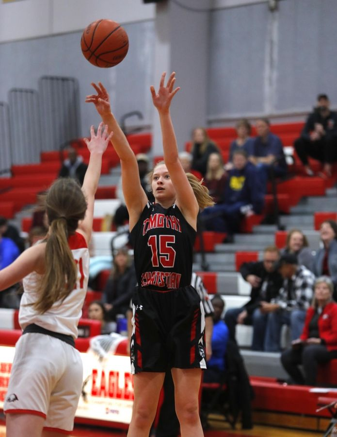 Senior Hannah Schuringa is averaging 21.2 points per game through Timothy Christian's first 5 games.