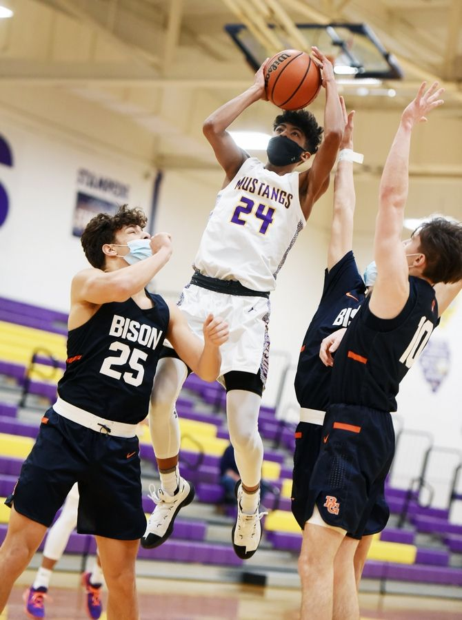Rolling Meadows' sophomore Cameron Christie (24) is emerging as one of the top players in the Northwest suburbs.