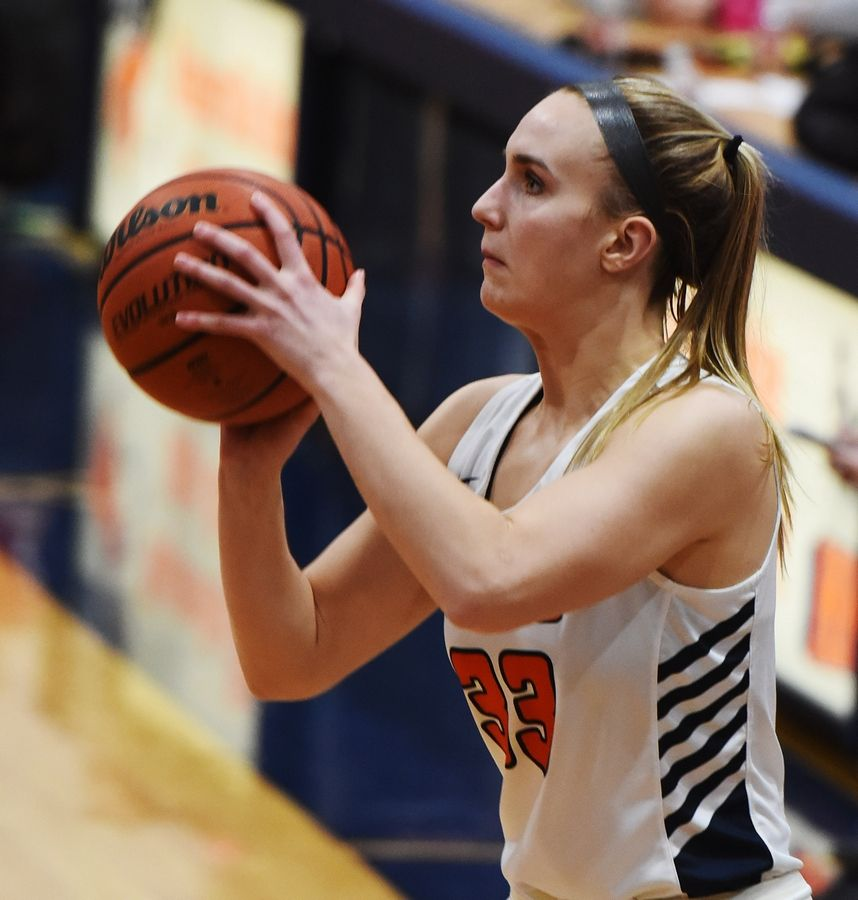 Naperville North's Greta Kampschroeder is the Captain of the 2021 Daily Herald DuPage County Girls Basketball All-Area Team.