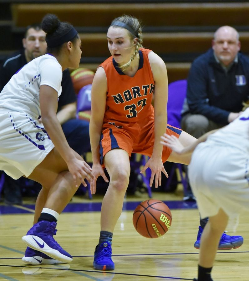 Naperville North's Greta Kampschroeder is the Captain of the 2021 Daily Herald Girls Basketball All-Area Team.
